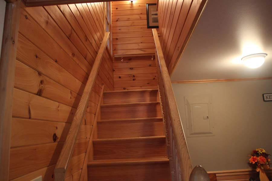 Stairs to the bedrooms and bath